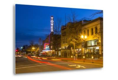 Tower Theatre on Wall Street at Dusk, Bend, Oregon, USA