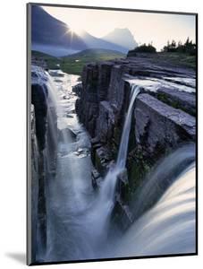 Triple Waterfall at Logan Pass, Glacier National Park, Montana, USA by Chuck Haney