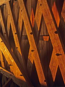 Trusses in Hogback Covered Bridge in Madison County, Iowa, USA by Chuck Haney