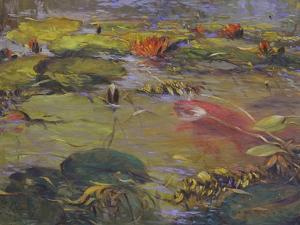 Koi and Lilies I by Chuck Larivey