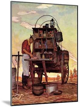 """""""Chuckwagon,"""" September 14, 1946-Mead Schaeffer-Mounted Giclee Print"""