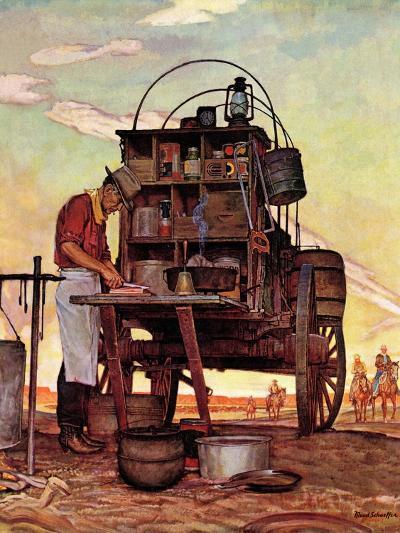 """""""Chuckwagon,"""" September 14, 1946-Mead Schaeffer-Giclee Print"""