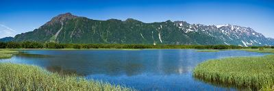 Chugach Mountains at Prince William Sound, Copper River, Alaska, USA--Photographic Print
