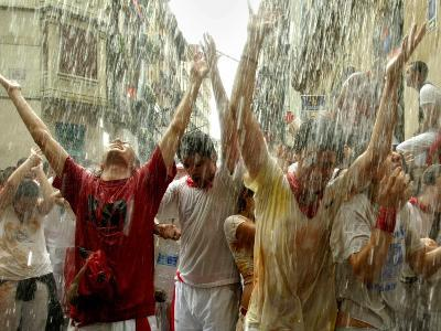 Chupinazo the Official Opening of the 2005 San Fermin Fiestas--Photographic Print