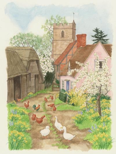 Church and Farm Track, 1998-Linda Benton-Giclee Print