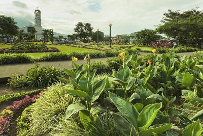 Church and Park in This Tourist Hub Town Near the Hot Springs and Arenal Volcano-Rob Francis-Photographic Print