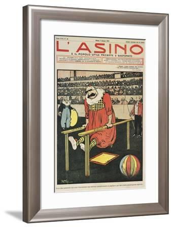 Church and State are Two Parallels, Satirical Cartoon from L'Asino Magazine, June 2, 1907--Framed Giclee Print