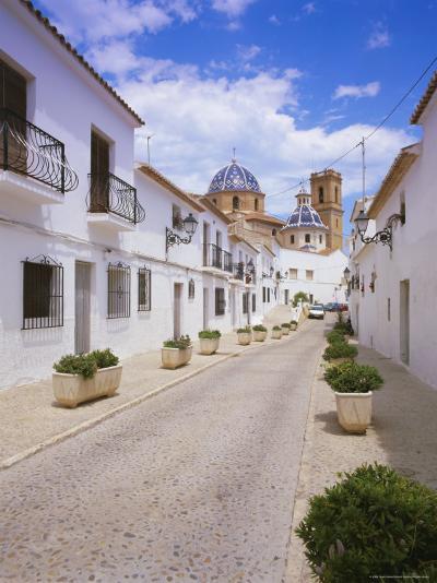 Church and Street in Altea, Valencia, Spain, Europe-Gavin Hellier-Photographic Print
