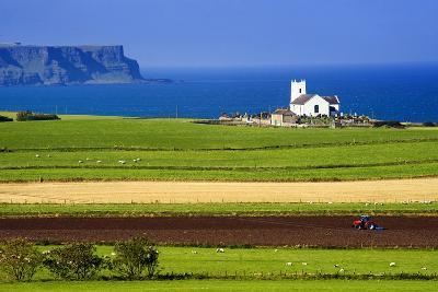 Church at Ballintoy on the North Coast of Northern Ireland-Chris Hill-Photographic Print