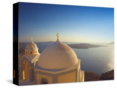 Church at Sunset, Santorini, Cyclades, Greek Islands, Greece, Europe