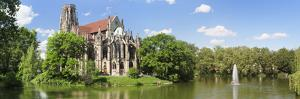 Church at the Waterfront, Johanneskirche, Feuersee, Stuttgart, Baden-Wurttemberg, Germany