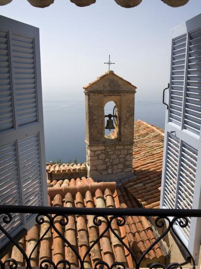 Church Bell Tower, Eze, French Riviera, Cote d'Azur, France-Doug Pearson-Photographic Print