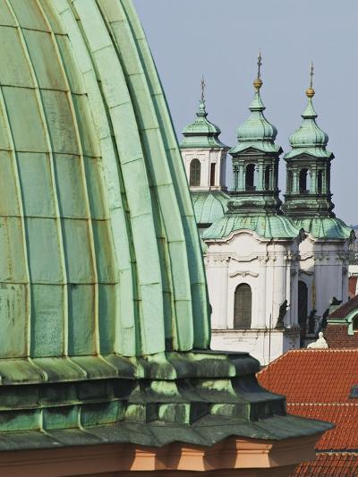 Church Dome and Bell Towers in Prague-William Manning-Photographic Print