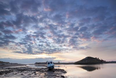 Church Hill and the Aln Estuary During a Stunning Winter Sunrise from the Beach at Low Tide-Lee Frost-Photographic Print