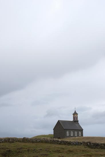 Church Hvalsnes Kirkja, Reykjanes Peninsula, South West Iceland-Julia Wellner-Photographic Print