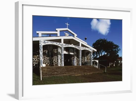 Church in Hanga Roa, Easter Island--Framed Giclee Print
