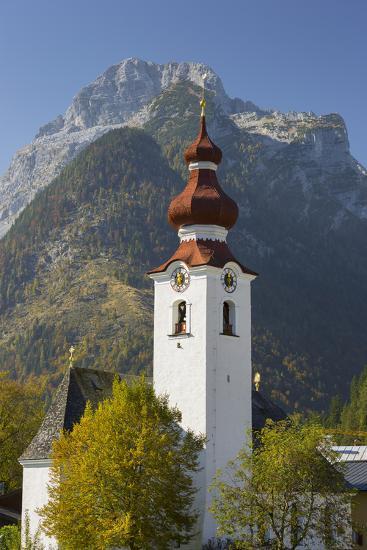 Church in Lofer, Lofer Mountains, Salzburg, Austria-Rainer Mirau-Photographic Print