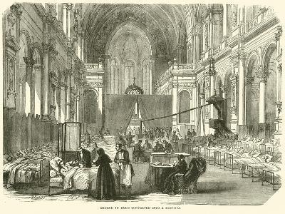 Church in Paris Converted into a Hospital, November 1870--Giclee Print