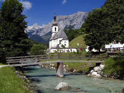 Church in Ramsau, Berchtesgadener Land, Bavaria, Germany, Europe-Hans Peter Merten-Photographic Print