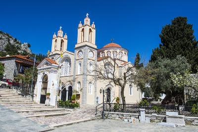 Church in Sianna Village, Rhodes, Dodecanese Islands, Greek Islands, Greece-Michael Runkel-Photographic Print