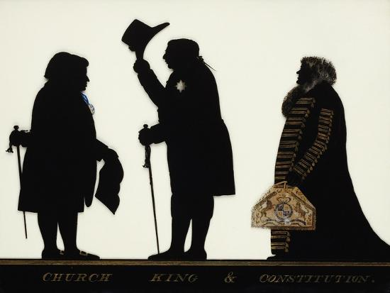 Church, King and Constitution, Silhouette on Glass-Charles Rosenberg-Giclee Print