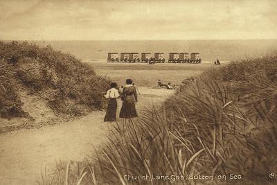 Church Lane Gap, Sutton-On-Sea--Photographic Print