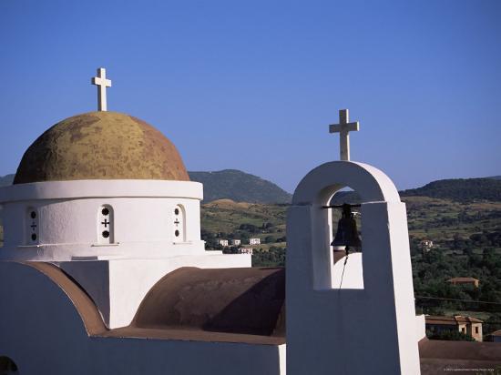Church, Lesbos, Greece-J Lightfoot-Photographic Print