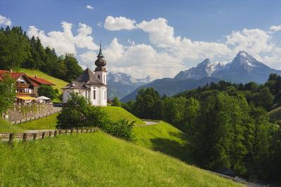 Church Maria Gern, to Vordergern, Watzmann, Berchtesgadener Land District, Bavaria, Germany-Rainer Mirau-Photographic Print