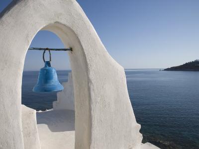 Church Near the Beach of Platys Gyalis, Mykonos, Cyclades Islands, Greek Islands, Greece, Europe-Angelo Cavalli-Photographic Print