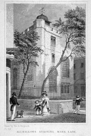 Church of All Hallows Staining, London, 1829-Thomas Hosmer Shepherd-Giclee Print