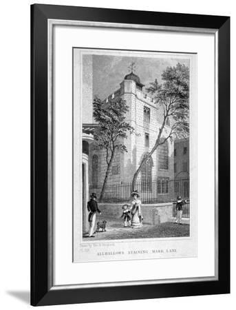 Church of All Hallows Staining, London, 1829-Thomas Hosmer Shepherd-Framed Giclee Print
