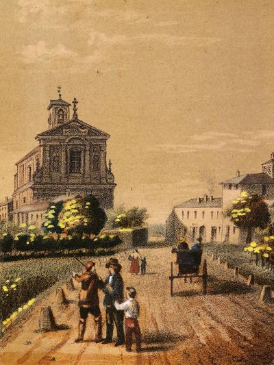 Church of Bicocca in Novara, from Views of the City of Novara, Italy--Giclee Print