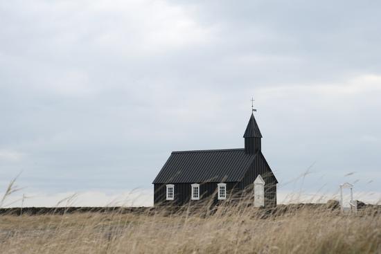 Church of Budir, Snaefellsnes, West Iceland-Julia Wellner-Photographic Print