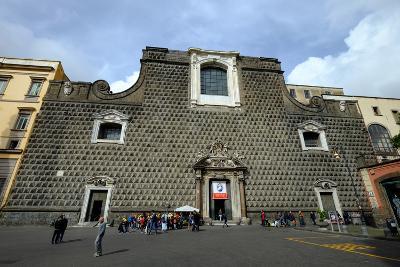 Church of Gesu Nuovo, Naples, Campania, Italy, Europe-Carlo Morucchio-Photographic Print