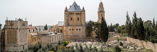Church of Hagia Maria Abbey and Christian Cemetery, Jerusalem, Israel--Photographic Print