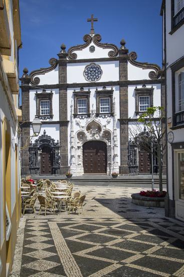 Church of Saint Sebastian in Ponta Delgada, AZores, Portugal-Brian Jannsen-Photographic Print