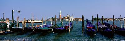 Church of San Giorgio Maggiore and Gondolas Venice Italy--Photographic Print
