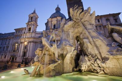 Church of Sant'Agnese in Agone and the Four Rivers Fountain-Matt Propert-Photographic Print
