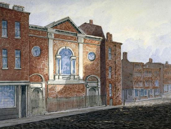 Church of St Alfege, London Wall, London, C1814-William Pearson-Giclee Print