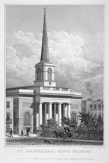 Church of St Barnabas, King Square, Bunhill Fields, Finsbury, London, 1828-John Cleghorn-Giclee Print