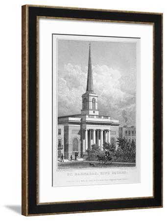 Church of St Barnabas, King Square, Bunhill Fields, Finsbury, London, 1828-John Cleghorn-Framed Giclee Print