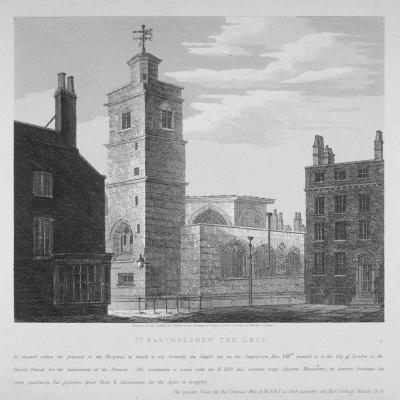 Church of St Bartholomew-The-Less, City of London, 1814-S Jenkins-Giclee Print