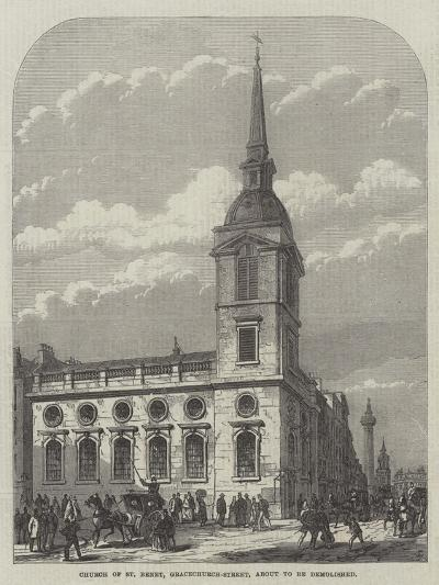 Church of St Benet, Gracechurch-Street, About to Be Demolished-Frank Watkins-Giclee Print
