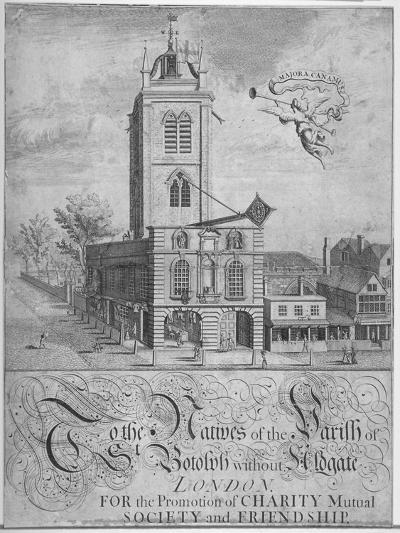 Church of St Botolph, Aldgate, City of London, 1750--Giclee Print