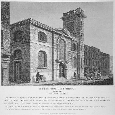 Church of St Clement, Eastcheap, City of London, 1812-Joseph Skelton-Giclee Print