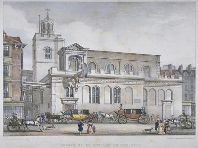 Church of St Dunstan in the West, Fleet Street, City of London, 1829-W Ganci-Giclee Print