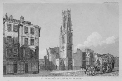 Church of St Dunstan in the West, Fleet Street, City of London, 1832--Giclee Print