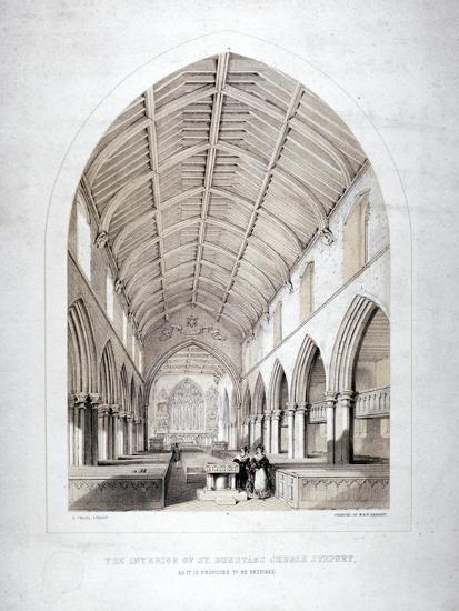 Church of St Dunstan, Stepney, London, 1846-George Childs-Giclee Print