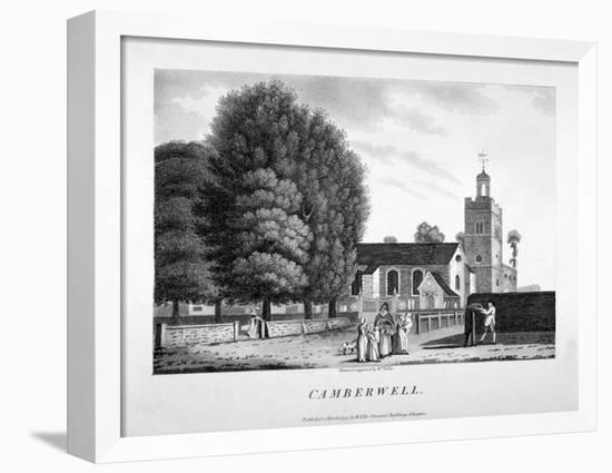 Church of St Giles, Camberwell, London, 1792-William Ellis-Framed Stretched Canvas Print
