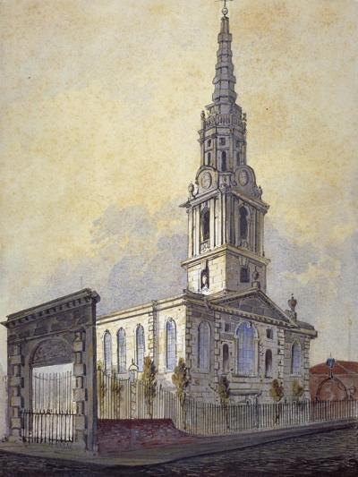 Church of St Giles in the Fields, Holborn, London, C1815-William Pearson-Giclee Print